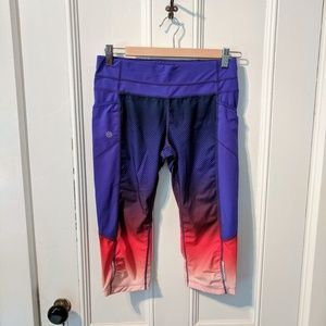 15fe0a3bedb860 Athleta Doby Be Free Ombre Knickers Leggings